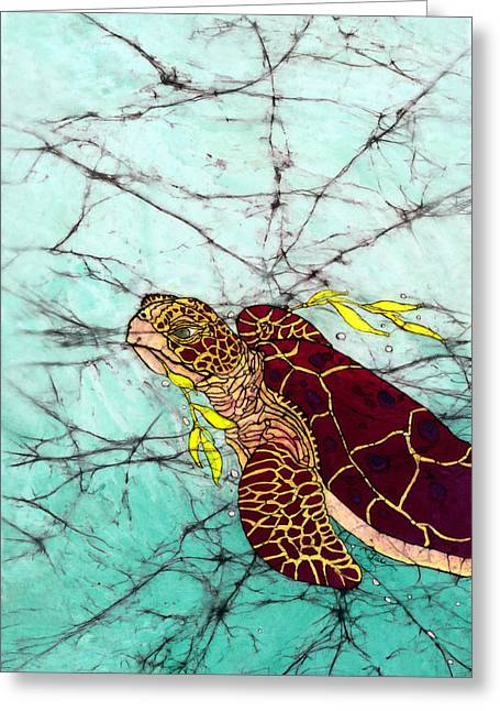 Sealife Posters Greeting Cards - Coming Up For Air Greeting Card by Shari Carlson