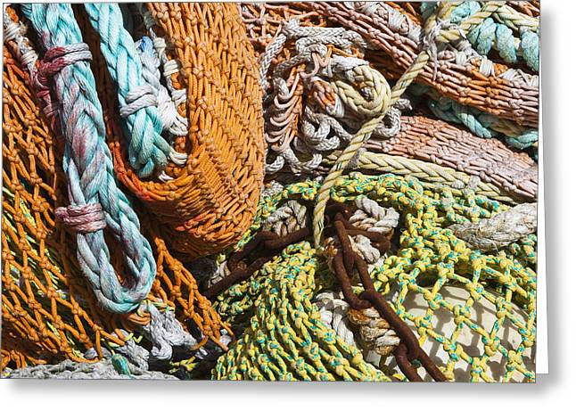 Commercial Fishing Nets and Rope Greeting Card by Paul Edmondson