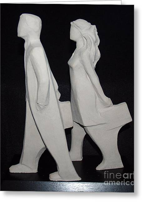 Business Sculptures Greeting Cards - Commissioned Greeting Card by Wayne Headley