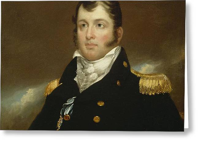 Commodore Oliver Hazard Perry Greeting Card by John Wesley Jarvis