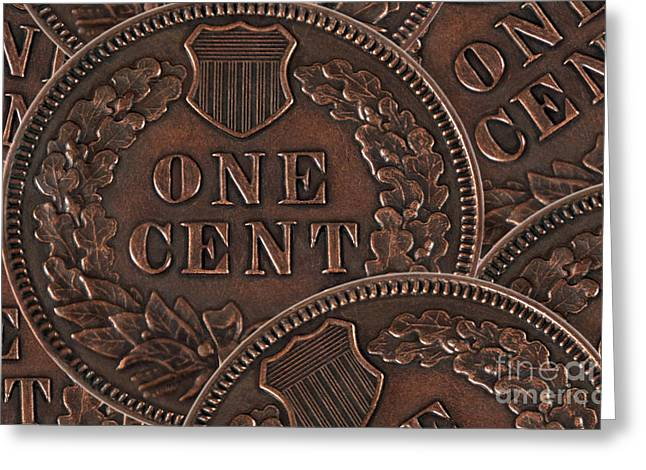Coins Greeting Cards - Common Cents Greeting Card by Dan Holm