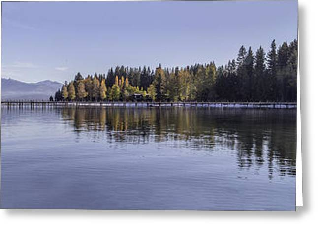 Commons Beach Lake Tahoe Greeting Card by Brad Scott