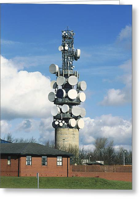 Technological Communication Greeting Cards - Communications Tower Greeting Card by Andrew Lambert Photography
