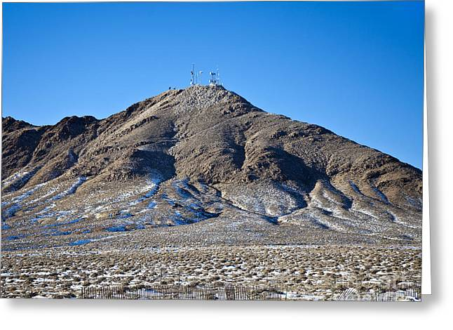 Cellphone Photographs Greeting Cards - Communications Tower Greeting Card by David Buffington