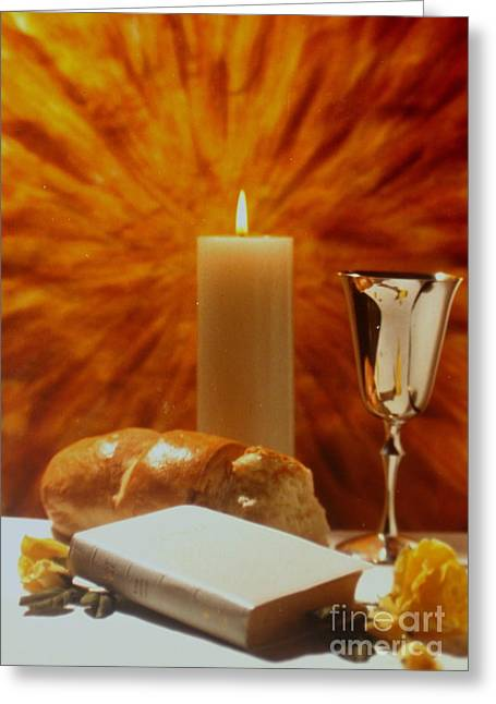 Faa Exclusive Greeting Cards - Communion  Greeting Card by Shasta Eone