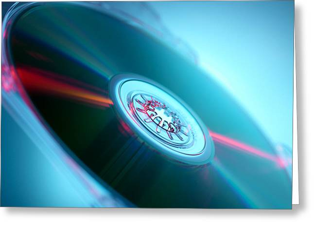 Compact Disc Greeting Card by Tek Image