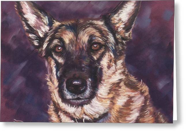 Guard Dog Pastels Greeting Cards - Companion Greeting Card by Bobbie Deuell