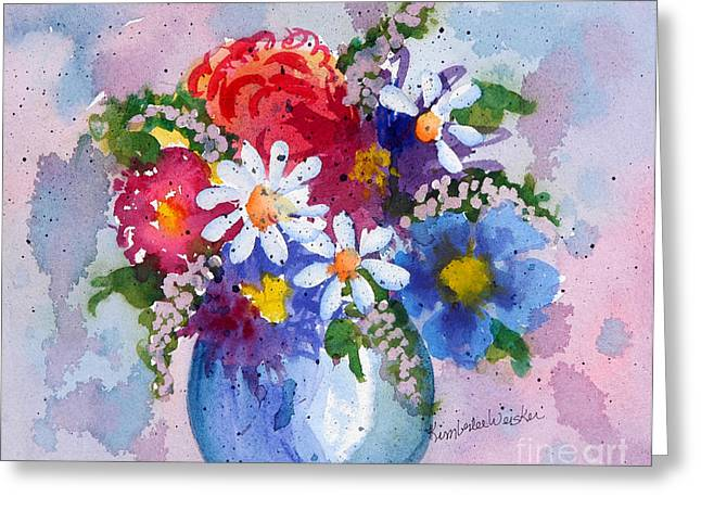 Print On Acrylic Greeting Cards - Company Again Greeting Card by Kimberlee Weisker