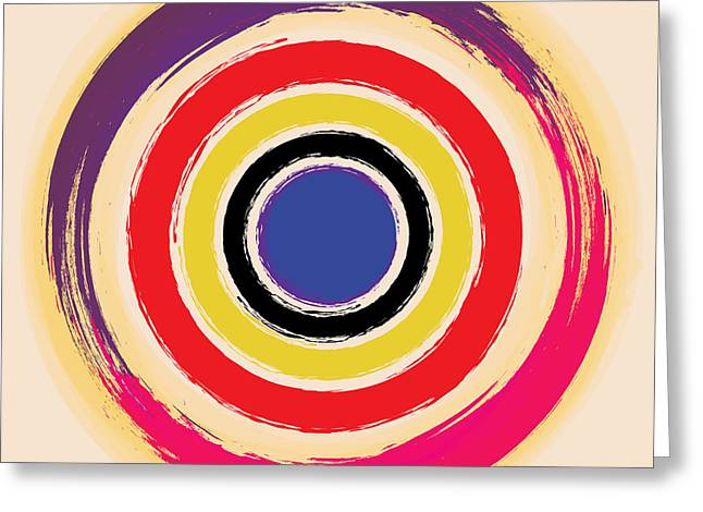 Rothko Greeting Cards - Compass Brush Greeting Card by Gary Grayson