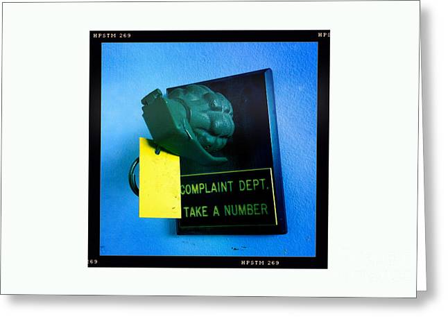 Complaint Dept Greeting Card by Nina Prommer