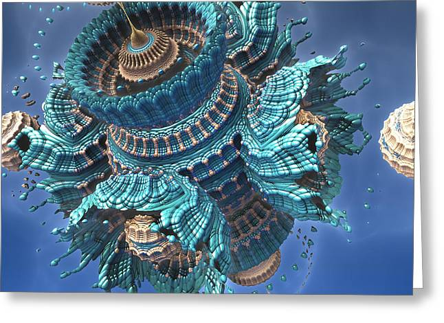 Fractal Greeting Cards Greeting Cards - Complex Simplicity Greeting Card by Charles Jr Kunkle