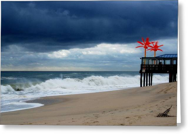 Point Pleasant Greeting Cards - Complicated - Jersey Shore Greeting Card by Angie Tirado