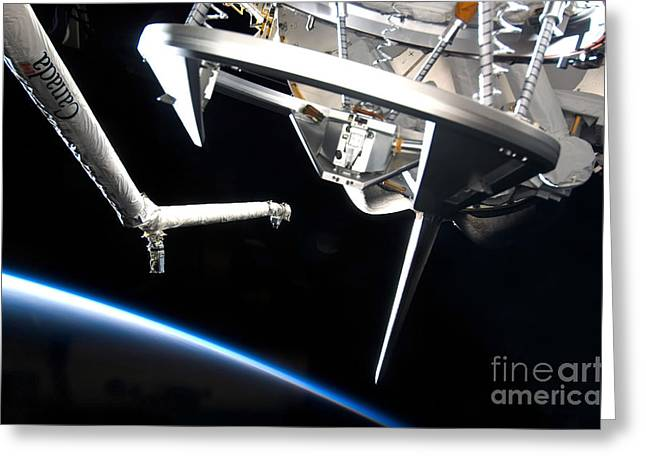 Components Of Space Shuttle Discovery Greeting Card by Stocktrek Images