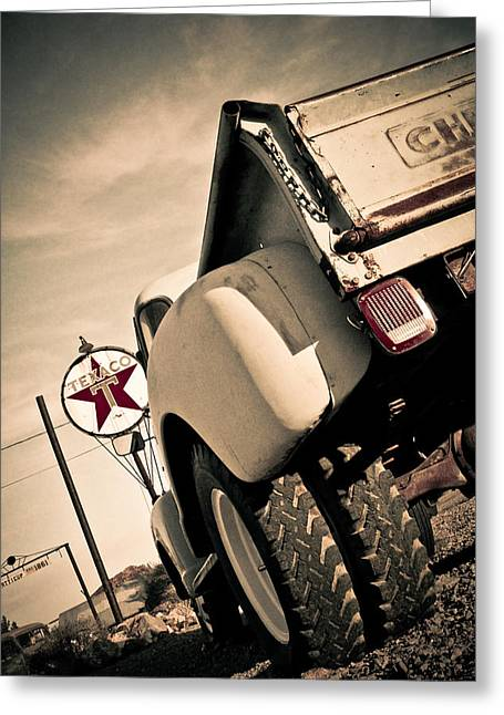 Texaco Sign Greeting Cards - Composed Greeting Card by Merrick Imagery