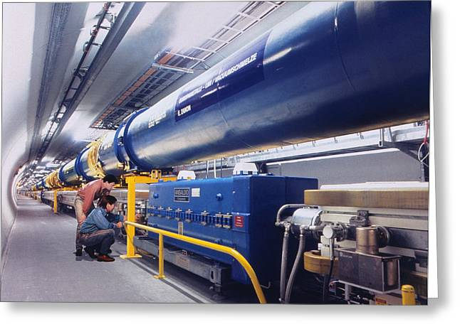 Lhc Greeting Cards - Composite Image Of Large Hadron Collider Greeting Card by David Parker & Julian Baum