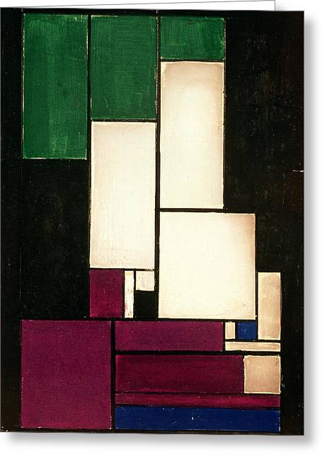 Compositions Greeting Cards - Composition Greeting Card by Theo van Doesburg