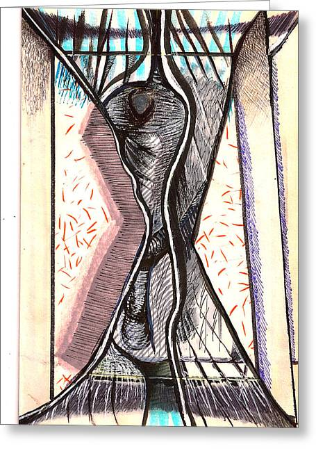Composition Two Greeting Card by Al Goldfarb