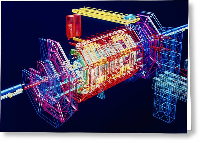 Lhc Greeting Cards - Computer Art Of Atlas Detector, Cern Greeting Card by David Parker