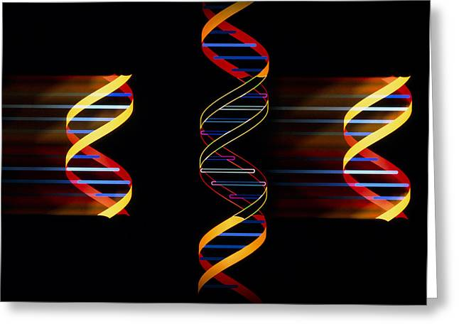 Dna Art Greeting Cards - Computer Artwork Of Genetic Engineering Greeting Card by Laguna Design