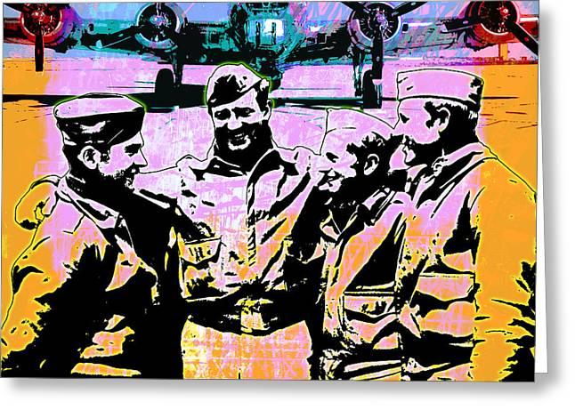 Pop Mixed Media Greeting Cards - Comradeship Greeting Card by Gary Grayson