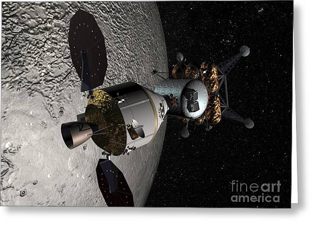 Concept Of The Orion Crew Exploration Greeting Card by Stocktrek Images