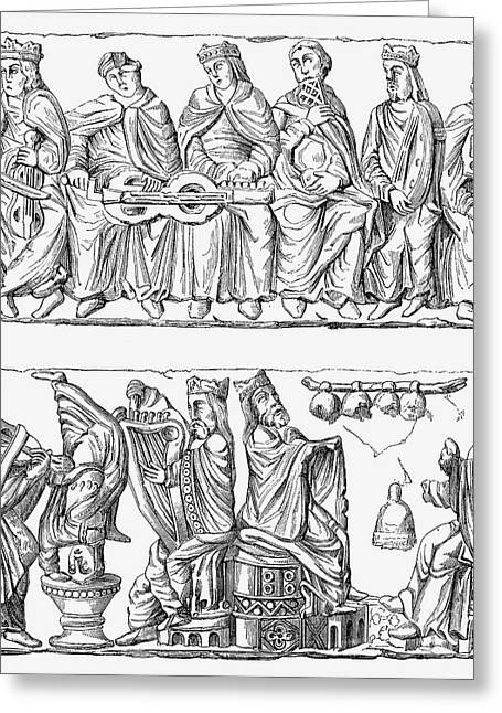 11th Century Greeting Cards - CONCERT, 11th CENTURY Greeting Card by Granger