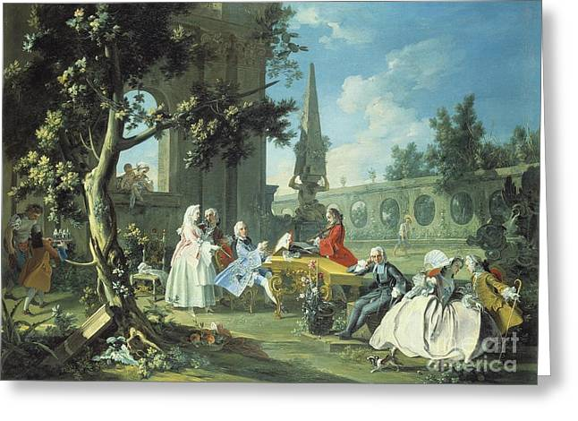 Concerto Greeting Cards - Concert in a Garden Greeting Card by Filippo Falciatore