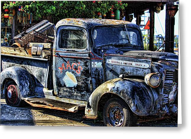 Vacation Spots Greeting Cards - Conch Truck Greeting Card by Joetta West