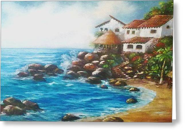China Beach Greeting Cards - Conchas Chinas Greeting Card by Teocaltiche