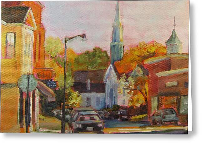 Concord Ma. Greeting Cards - Concord Afternoon Greeting Card by Laurie G Miller