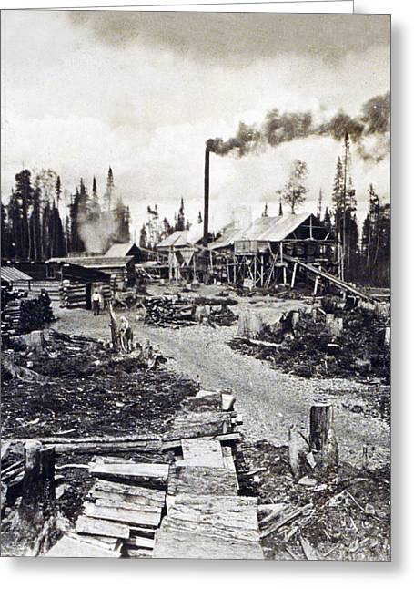 Concord Greeting Cards - Concord New Hampshire - Logging Camp - c 1925 Greeting Card by International  Images