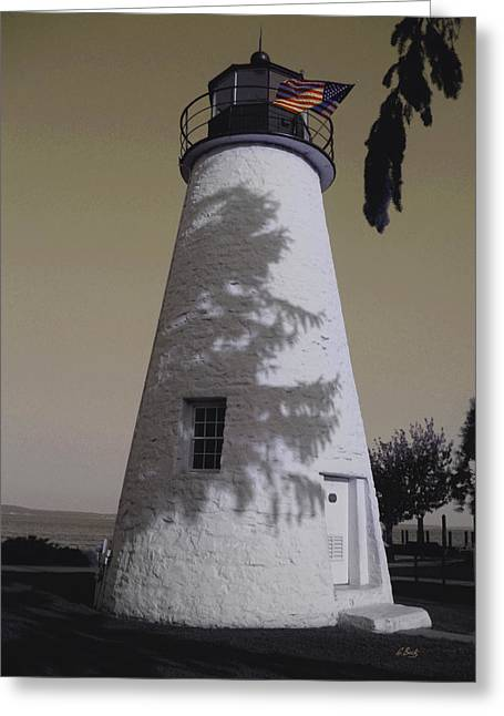 Best Sellers -  - Concord Greeting Cards - Concord Point Light Greeting Card by Gordon Beck