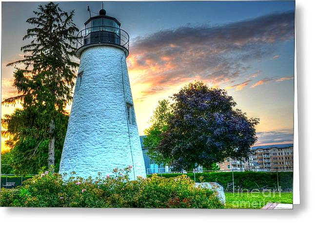Concord Greeting Cards - Concord Point Lighthouse 2 Greeting Card by Debbi Granruth