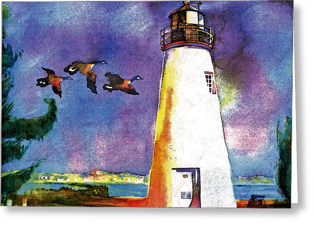 Concord Mixed Media Greeting Cards - Concord Point Lighthouse Greeting Card by Dean Gleisberg