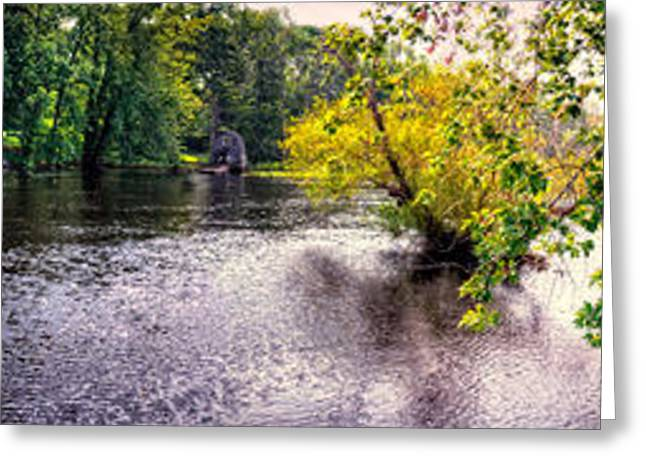 Concord Greeting Cards - Concord River at Old North Bridge II Greeting Card by Nigel Fletcher-Jones