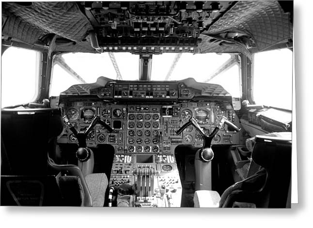 Airway Photographs Greeting Cards - Concorde cockpit Greeting Card by Patrick  Flynn