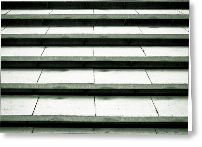 Stepping Stones Greeting Cards - Concrete steps Greeting Card by Tom Gowanlock