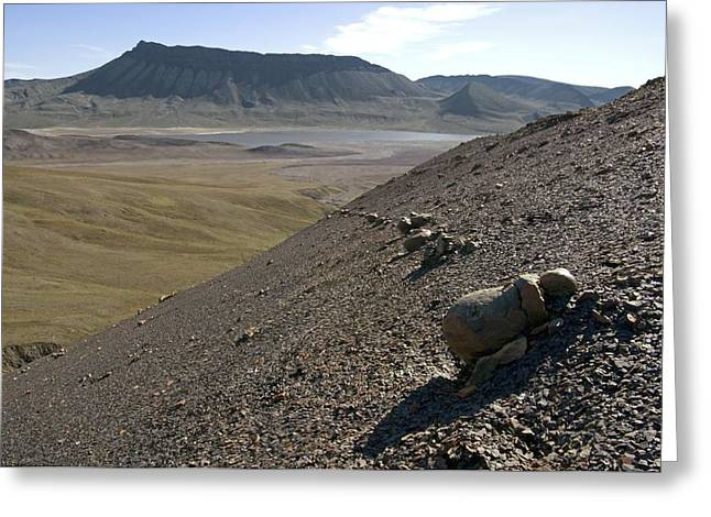 Axels Greeting Cards - Concretions In Shale, Canadian Arctic Greeting Card by Dr Juerg Alean