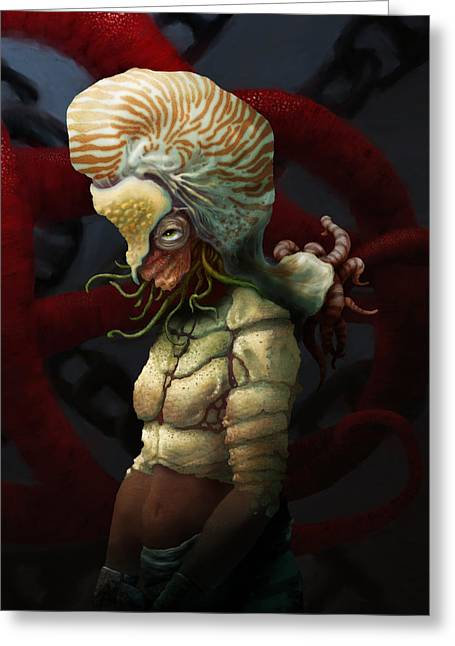Sea Life Digital Art Greeting Cards - Condemnation of the Nautilus Greeting Card by Ethan Harris
