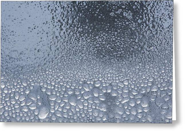 Wet Window Greeting Cards - Condensation Greeting Card by Richard Wear