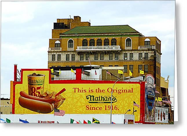 Coney Island Memories 9 Greeting Card by Madeline Ellis