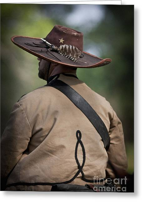 Jefferson Mixed Media Greeting Cards - Confederate Cavalry Soldier Greeting Card by Kim Henderson