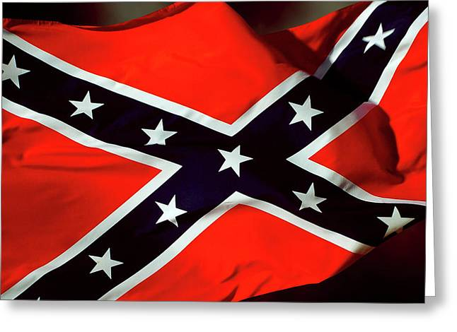 Confederate Flag Greeting Card by Phill Petrovic