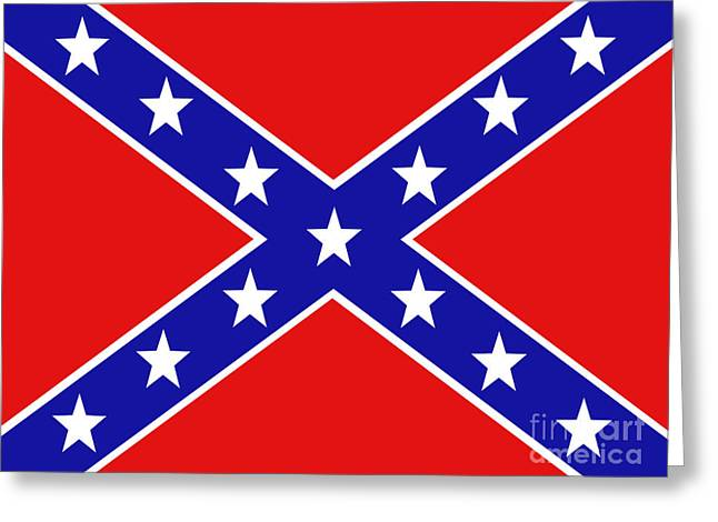 Www.picsl8.co.uk Greeting Cards - Confederate flag Greeting Card by Steev Stamford