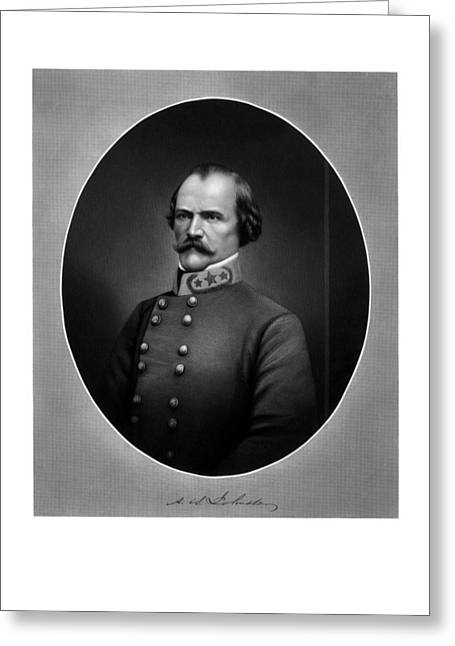 Johnston Greeting Cards - Confederate General Albert Sidney Johnston Greeting Card by War Is Hell Store
