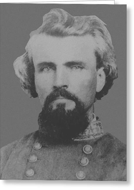 Confederate Digital Art Greeting Cards - Confederate General Nathan Forrest Greeting Card by War Is Hell Store