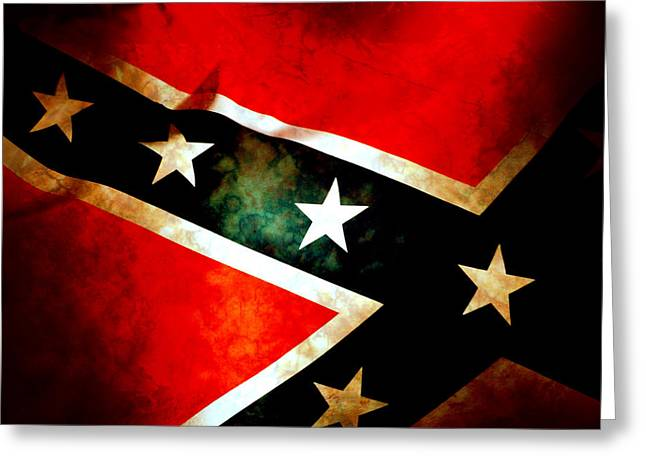 Confederate Digital Art Greeting Cards - Confederate Patriot Flag Greeting Card by Phill Petrovic