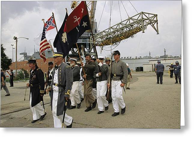 Types Of Clothing Greeting Cards - Confederate Reenactors  Memorialize Greeting Card by Ira Block