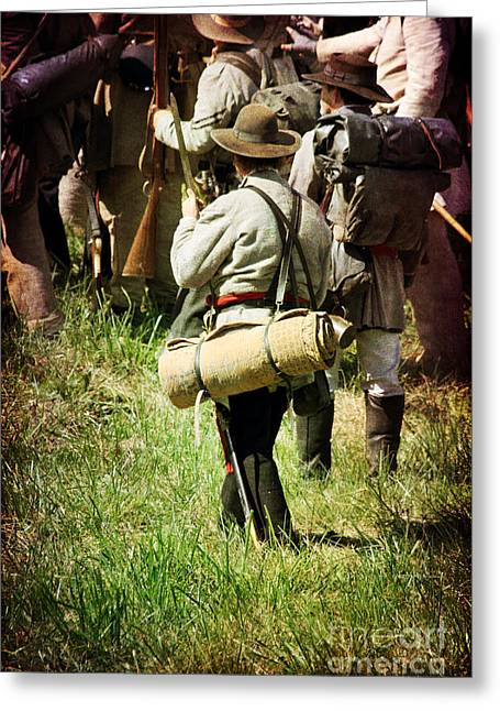 Historical Re-enactments Greeting Cards - Confederate Soldiers Greeting Card by Stephanie Frey