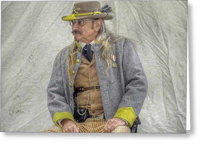 Confederacy Digital Art Greeting Cards - Confederate Veteran Portrait Greeting Card by Randy Steele